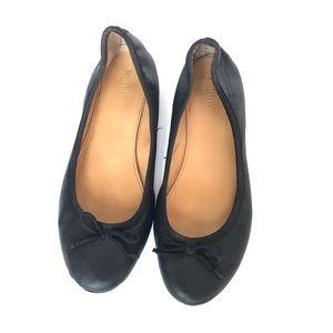 Black J. Crew Leather Ballet Flats Women's 9